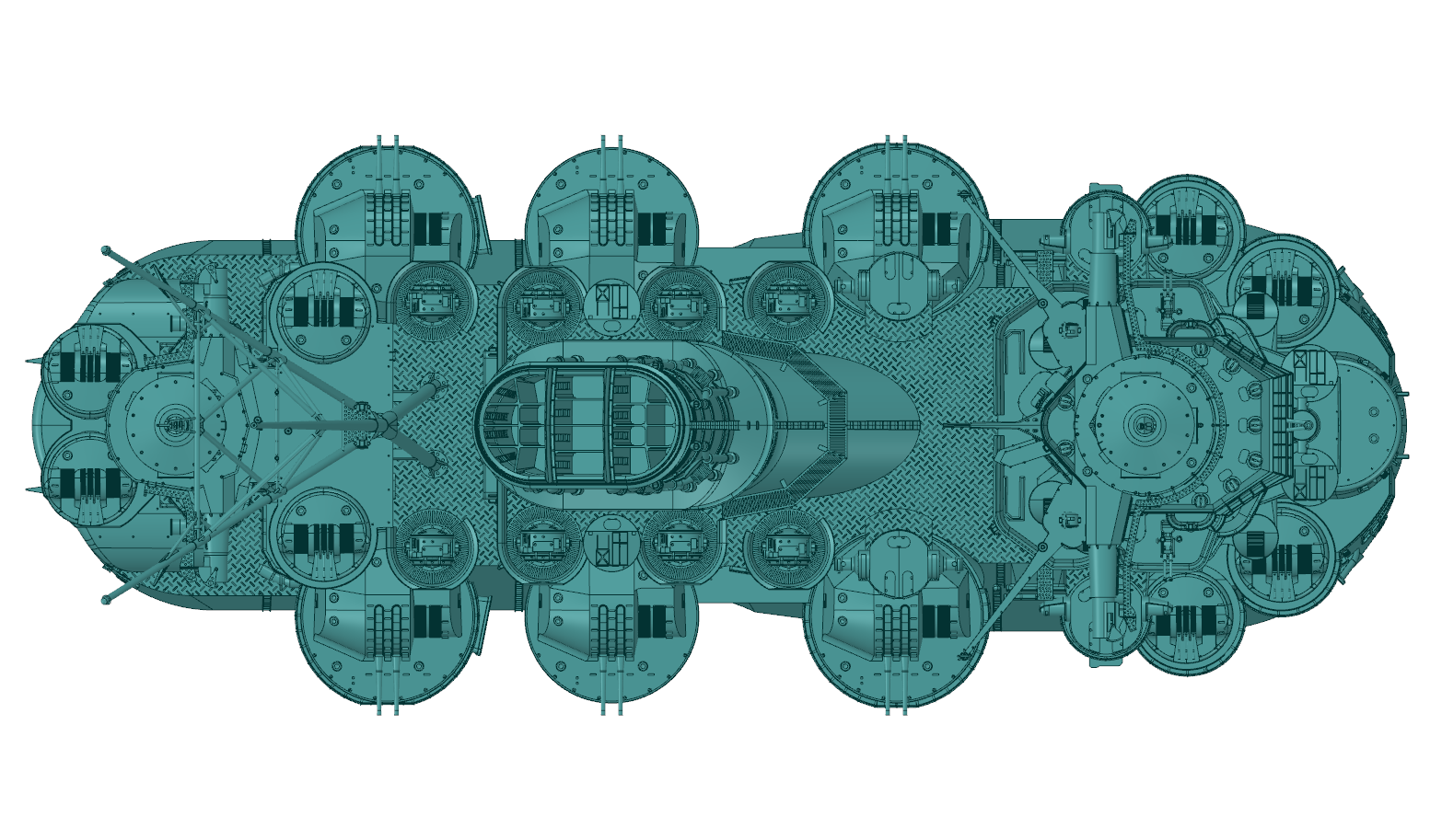 CAD Image of Yamato Battleship Model